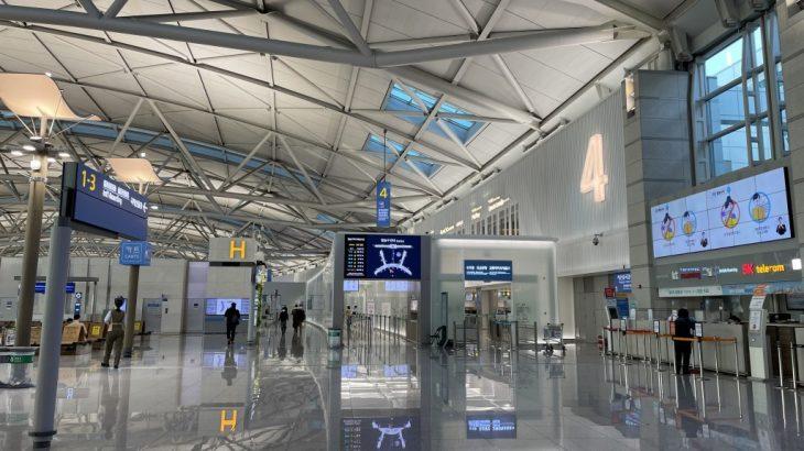 韓国の仁川空港から日本の成田空港まで☺入国までにかかった時間など